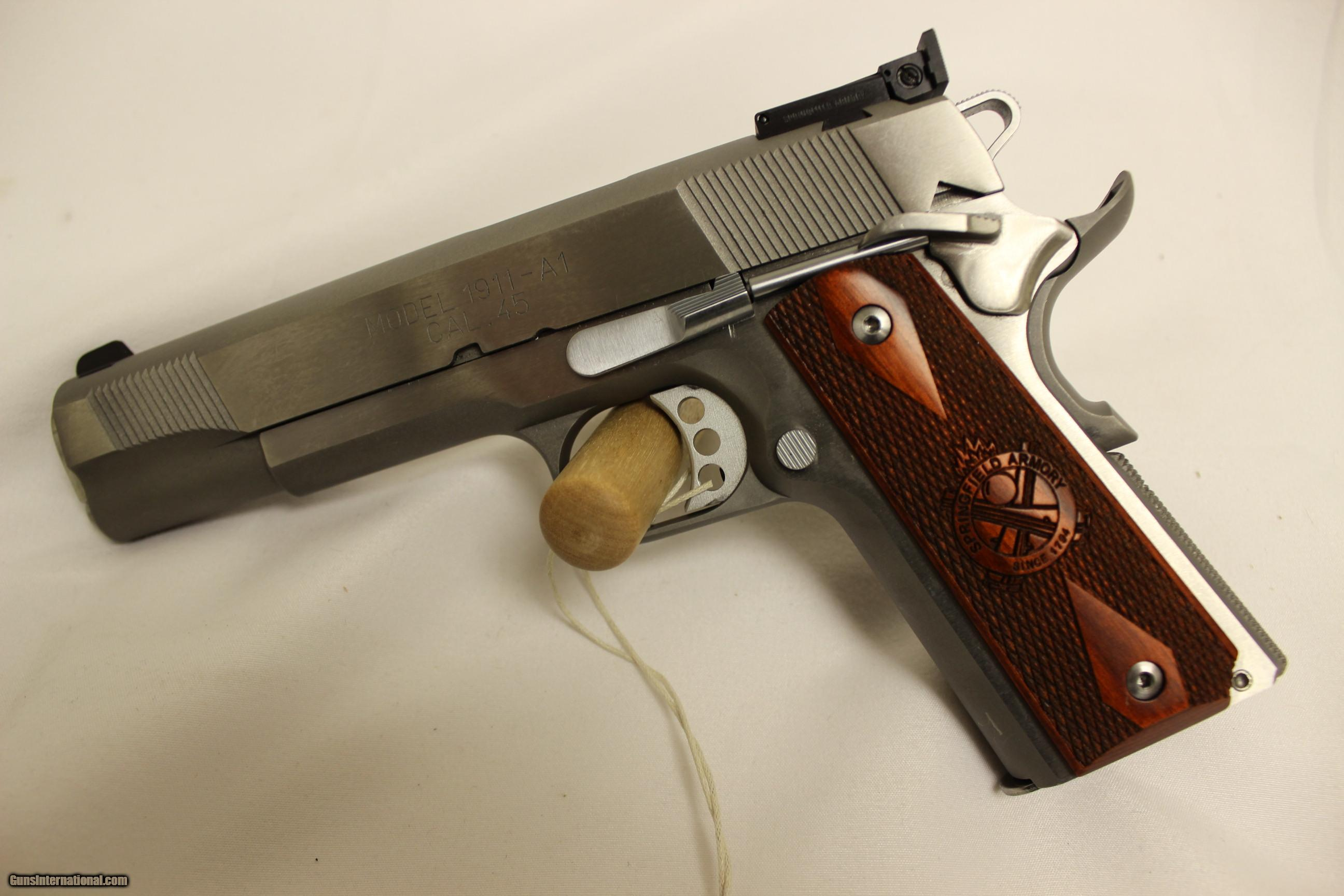 Springfield Armory 1911 Stainless loaded Target  45 A C P
