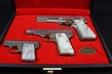 Browning Renaissance 3 pistol set, 9M/M,.380 and.25 A.C.P. - 2 of 25