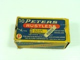 PETERS CARTRIDGE CO. RUSTLESS .38 SPECIAL SHOT LOADS