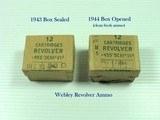 WW2 TWO 12 CARTRIDGE REVOLVER .455 Mk. VI BOXES MARKED CANADA