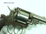 "c.1880's-1900's BELGIUM BULLDOG 5-SHOT REVOLVER 2 1/2"" Barrel .44 WEBLEY CENTERFIRE WITH FULL 50-ROUND RARE BOX OF CLEAN UMC AMMUNITION ! - 7 of 14"