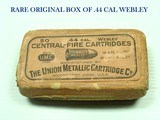 "c.1880's-1900's BELGIUM BULLDOG 5-SHOT REVOLVER 2 1/2"" Barrel .44 WEBLEY CENTERFIRE WITH FULL 50-ROUND RARE BOX OF CLEAN UMC AMMUNITION ! - 14 of 14"