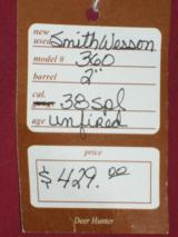 "SOLD Smith & Wesson 360 2"" SOLD - 6 of 6"