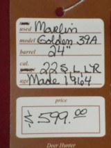 SOLD Marlin 39A Golden SOLD - 10 of 10