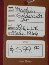SOLD Marlin Golden 39A SOLD - 10 of 10