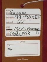 SOLD Savage 99 RMEF #25 of 60 SOLD - 13 of 13