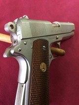 SOLD Colt 1911 Combat Commander Satin Nickel SOLD - 6 of 14