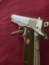 SOLD Colt 1911 Combat Commander Satin Nickel SOLD - 2 of 14