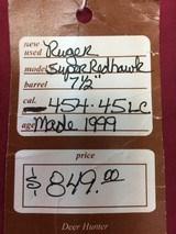 RUGER SUPER REDHAWK 454 CASULL & 45 COLT - 14 of 14
