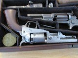 Scare & Rare Colt triple cased group of 3 Colt Percussion Revolvers with accoutrements - 1851 Colt Navy, 1849 Colt Pocket & 1855 Colt Root in case - 7 of 15