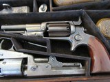 Scare & Rare Colt triple cased group of 3 Colt Percussion Revolvers with accoutrements - 1851 Colt Navy, 1849 Colt Pocket & 1855 Colt Root in case - 6 of 15