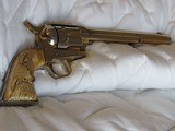 Extremely Rare, Scarce 1 of 3 Gold Washed Original Colt Single Action Army Revolver made 1875 in Excellent Condition - 13 of 15