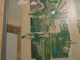 """Rare """"Joe Bananno Mafia Godfather with Portions of Machinegun"""" Collage Signed Fred Otnes & Gay Talese - 5 of 15"""