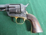 Nice Engraved Colt Style Single Action Army Revolver - .45LC -19th Century - Belgium Origin? - 2 of 15