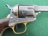 Nice Engraved Colt Style Single Action Army Revolver - .45LC -19th Century - Belgium Origin? - 6 of 15