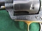 Nice Engraved Colt Style Single Action Army Revolver - .45LC -19th Century - Belgium Origin? - 3 of 15