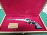 "Colt Peacemaker Buntline ""2nd Amendment Commemorative""22LR - 1977 in Presentation Case Beautiful""Nickel & Blue"" - 1 of 9"