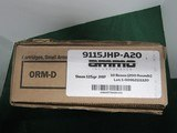 9mm luger ammunitionammo inc 115gr jhp 200 rds self protection defense ammo
