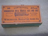 Winchester Rifle Models 1873 and 1892 .44 cal full box cartridges