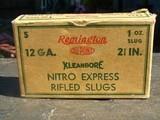 REMINGTON 12 GAUGE KLEANBORE NITRO EXPRESS SLUGS