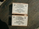 2 BOXES 45-70 GOVERNMENT SPRINGFIELD RIFLE 1876 CARTRIDGES