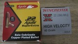22 LONG RIFLE ammo 500 rounds cci,remington,winchester, aguila 110.00 per 500 rounds - 3 of 5