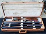 ?Belgium Browning Midas Grade 20, 28, .410, three barrel set