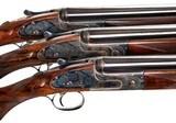 J Purdey & Sons Sidelock Ejector Over-and-Under 20 Gauge Shotguns (trio)