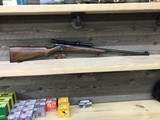 Winchester model 69A Target with Mossberg No 5 side mount and Weaver J4 both period correct