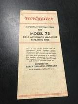 Winchester model 75 manual -original-