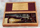 Colt 1851 Model Vintage Wood Gun Box case. Ref.#03c