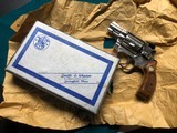 Smith and Wesson 36 nickel .38 special. Original box, papers, tools