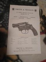 S&W model 36 .38 Chiefs So Revolver