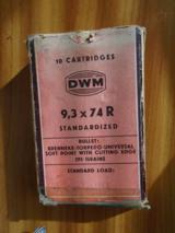 9.3X74R DWM 293 gn