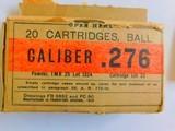 Ammo, US Military caliber .276 dated 1929
