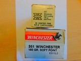 351 Winchester 180 graincartridges in two complete boxes