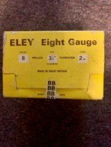 Eley 8 guage 31/4in shotgun shells BB load - 1 of 4