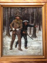 Original A. B. Frost Oil Painting