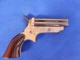 Sharps 4 Barrel 22 Caliber Pistol Model 1 C with Inscribed Name on Frame Original