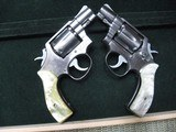 Smith & Wesson Model 64 Snub nosed revolvers (2). Stainless