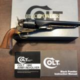 "Colt 1860 Army 44 caliber, ""Colt Authentic Blackpowder Series"" modern revolver"