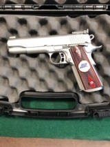 Kimber US Team Match II 45 ACP pistol in stainless steel