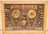 WINCHESTER MODEL 1890 SINGLE-W CARTRIDGE BOARD BULLET BOARD ORIGINAL SINGLE W