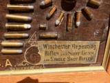 WINCHESTER MODEL 1890 SINGLE-W CARTRIDGE BOARD BULLET BOARD ORIGINAL SINGLE W - 11 of 15