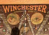 WINCHESTER MODEL 1890 SINGLE-W CARTRIDGE BOARD BULLET BOARD ORIGINAL SINGLE W - 6 of 15