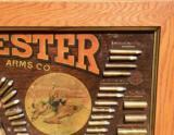 WINCHESTER MODEL 1890 SINGLE-W CARTRIDGE BOARD BULLET BOARD ORIGINAL SINGLE W - 4 of 15