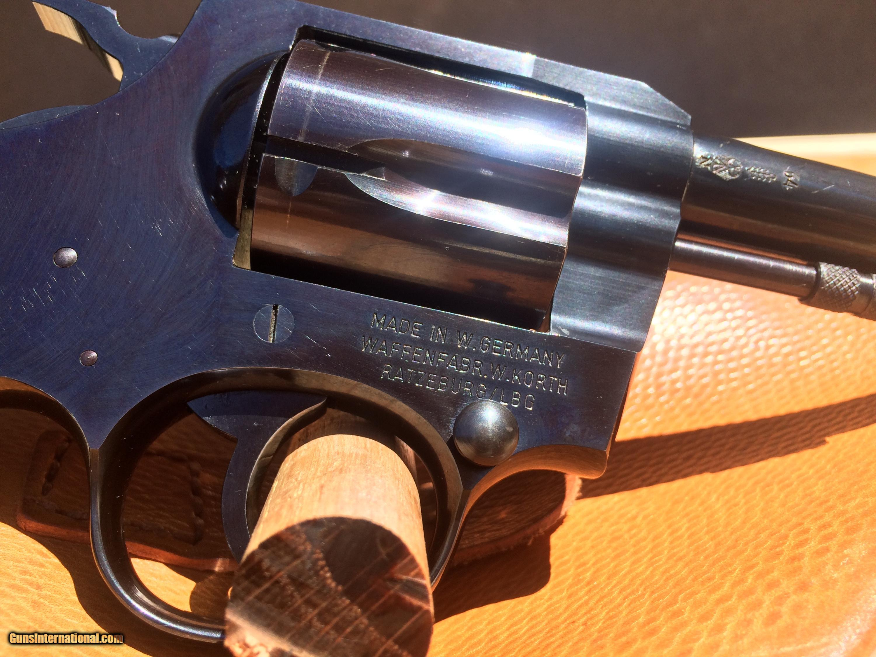 "Korth Series 20 ""Police Revolver""  38 Special 1964 RARE for sale"