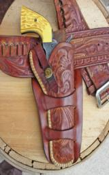 Heiser holster with matching Lawrence cartridge belt- 1 of 12