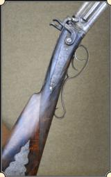 Engraved Over and under rifle shotgun - 1 of 15