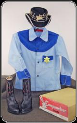 1940s or 50s Kids Cowboy outfit: Hat, Boots, and ShirtRJT# 2647